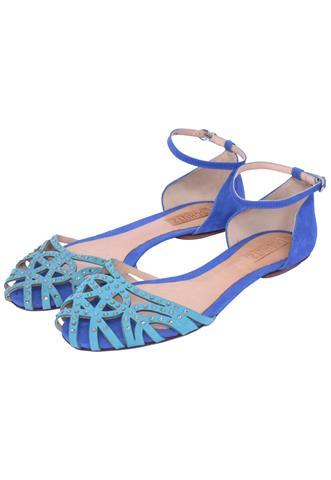 Sandália Schutz Strass Azul