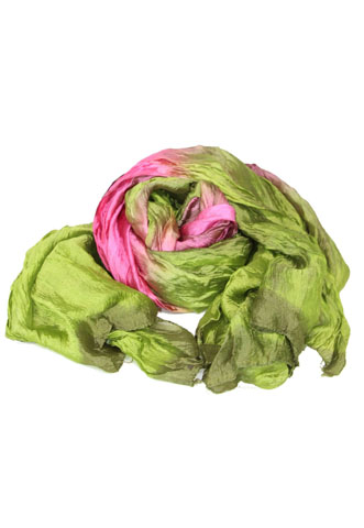 Echarpe Tanago Degradê Rosa/Verde