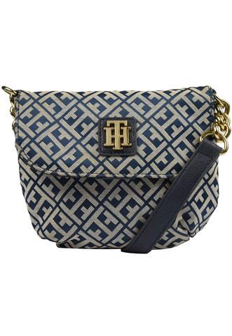 Bolsa Tommy Hilfiger Logo Azul/Bege