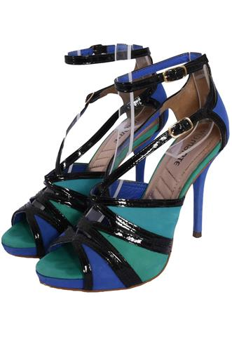 Sandália Via Marte Colors Verde/Azul