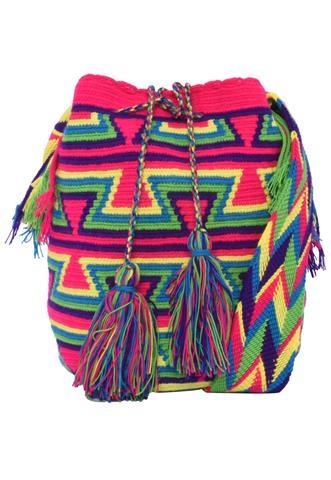 Bolsa Wayuu Rosa