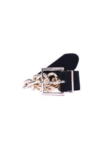 Cinto Zara Corrente Preto/Dourado