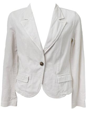 Blazer Zara Cotelê Off White