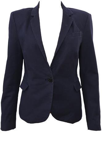 Blazer Zara Botão Azul
